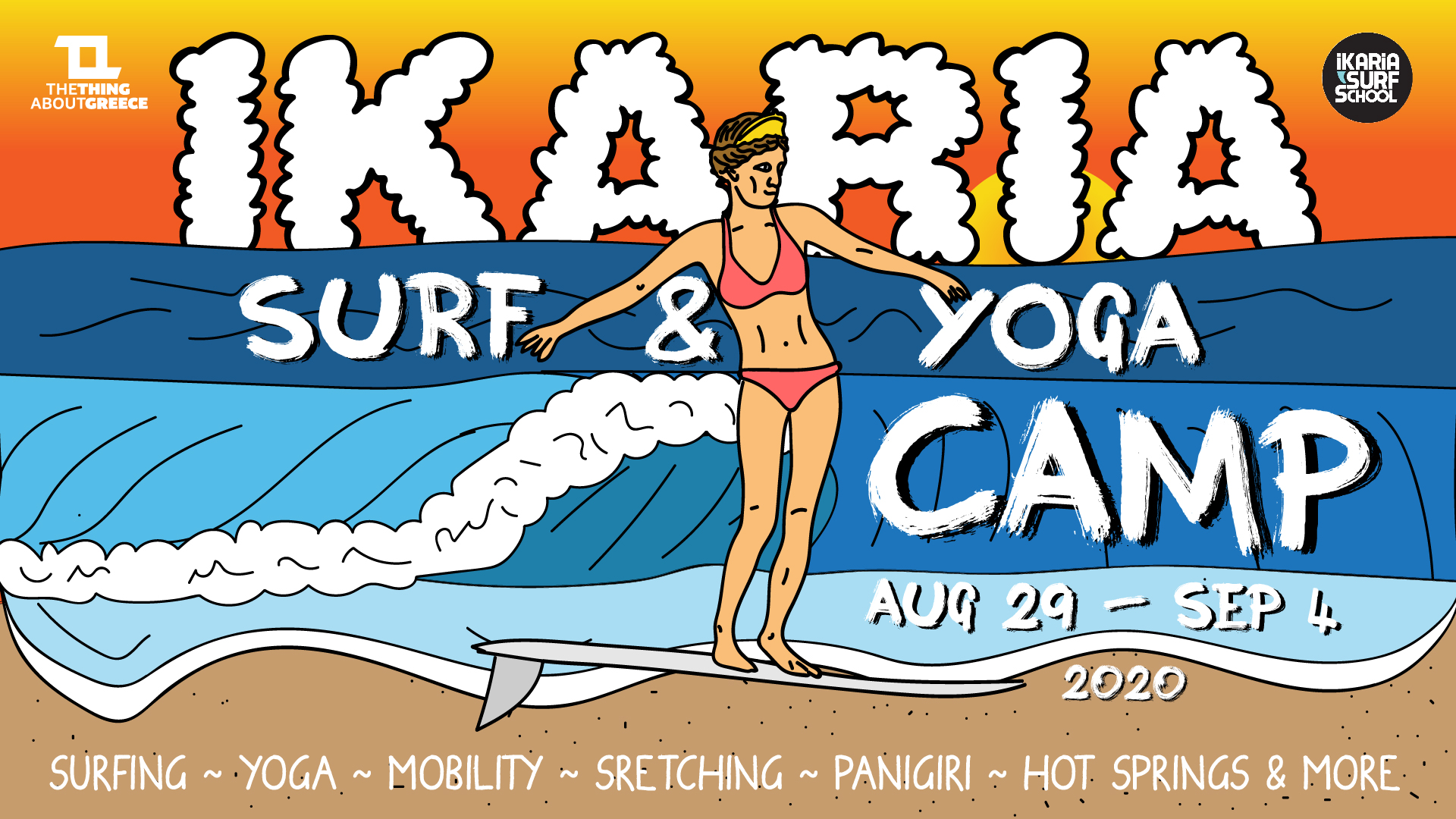 IKARIA SURF & YOGA CAMP 2020